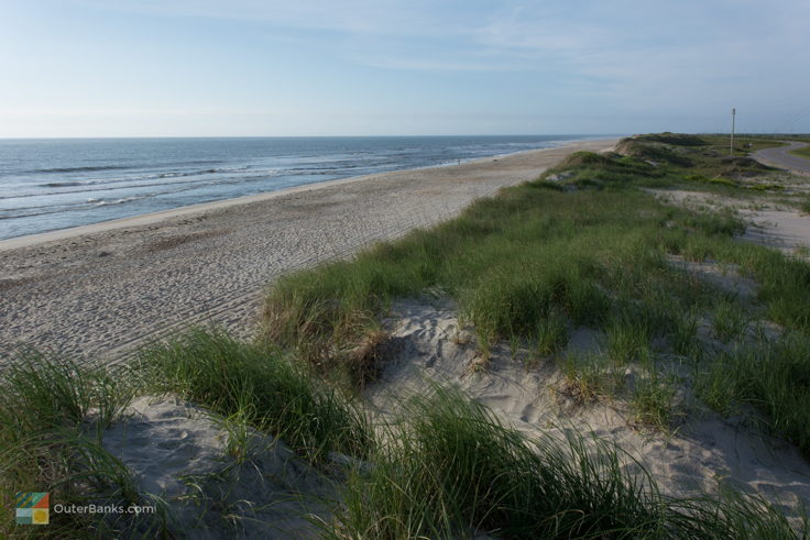 The beach from Pea Island Wildlife Refuge