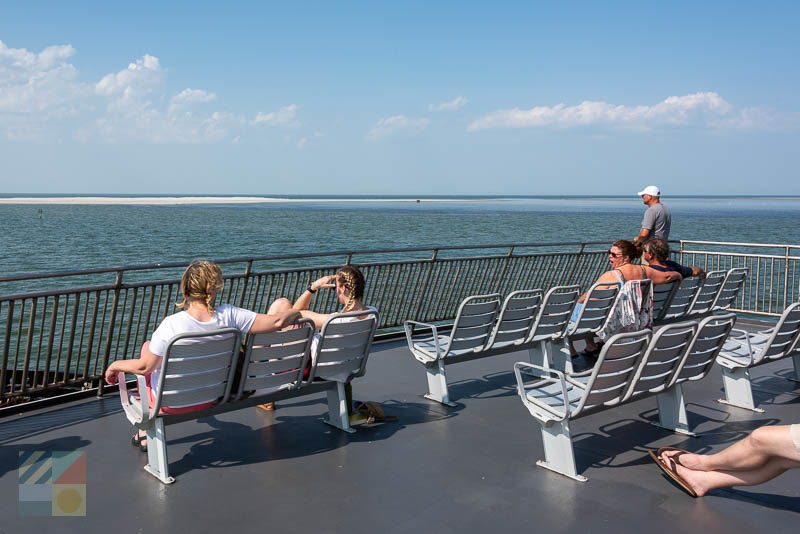 Cedar Island Ferry passenger deck chairs