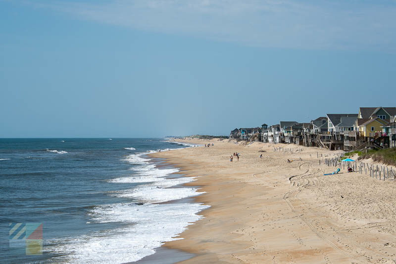 Homes along Cape Hatteras National Seashore